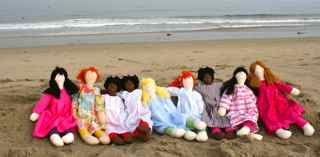 Handmade Custom Dolls at Beach