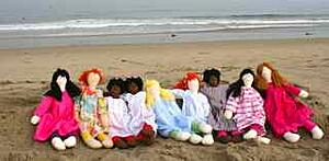 doll friends at the Beach