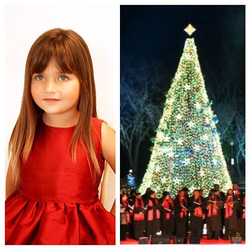 Christmas Tree Lighting Girls Holiday Dress