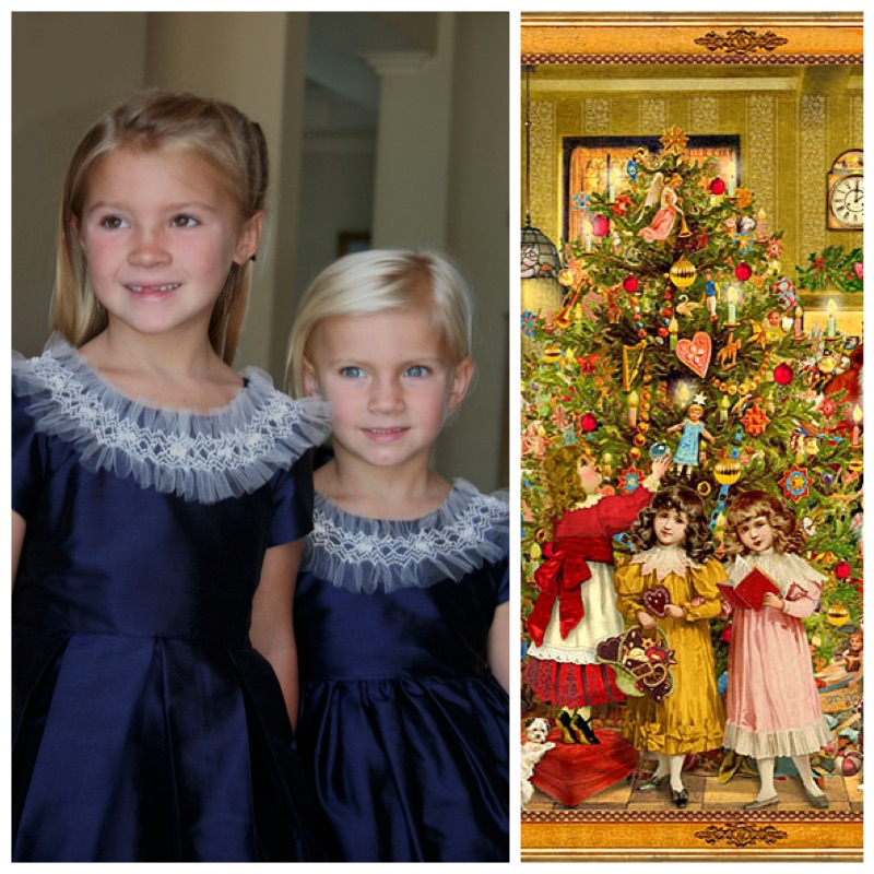 Christmas girls party dress