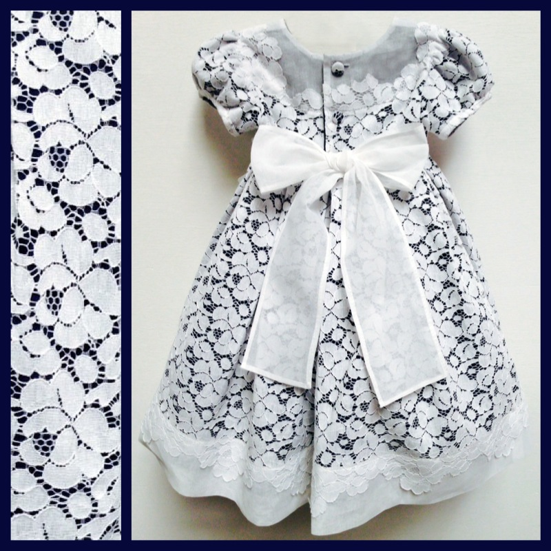 Custom Flower Girl Gala Dress Lined Navy