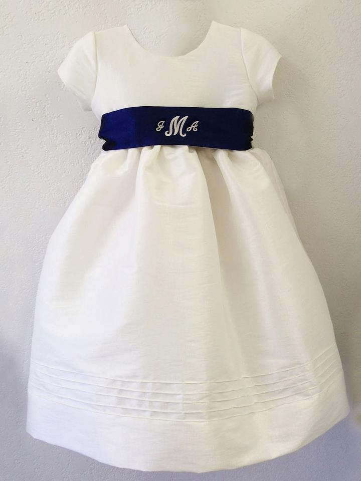 Custom Flower Girl Timeless Dress Monogram