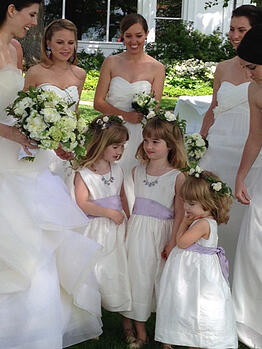 Custom Flower Girl Timeless Dress Lav Sash
