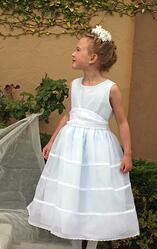 Custom Flower Girl Delicate Dress lined Light Blue