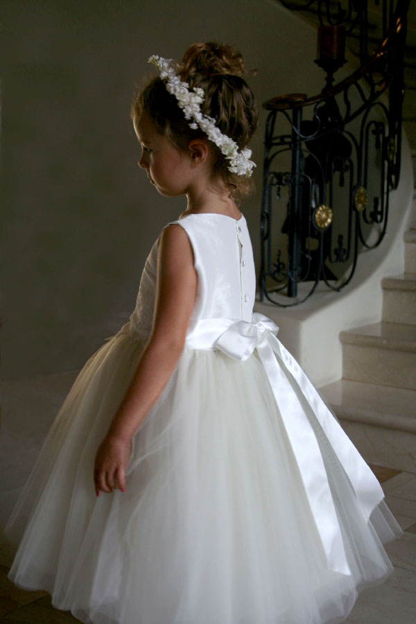 Custom Flower Girl Tulle Tutu Enchanting Dress