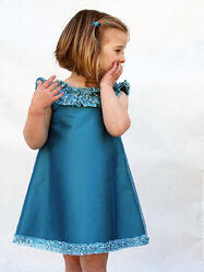 Hanukkah Dress, Blue, Girls Dress