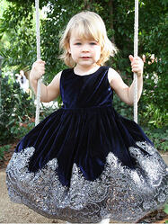 Silver, Girls Dress, sequins, ruffles
