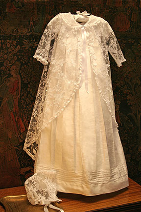 Lace Christening Gown and Bonnet