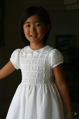 Heirloom Smocked Communion Dress