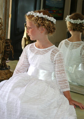 Reflections Lace Holy Communion Dress