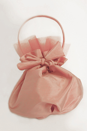 Pink Taffeta and Tulle Flower Girl Purse