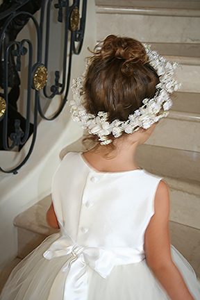 Girls Ivory Floral Crown