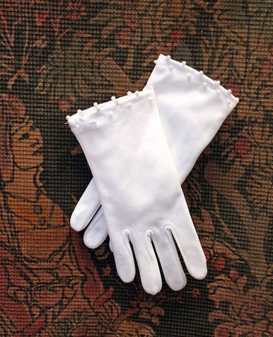 Gloves with Pearls