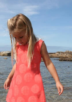 Coral Fireworks Girls Dress