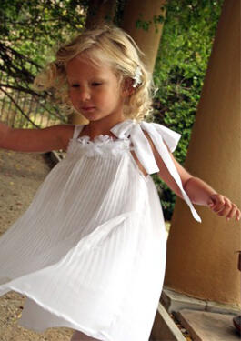 Dream Pleated Chiffon Girls Dress