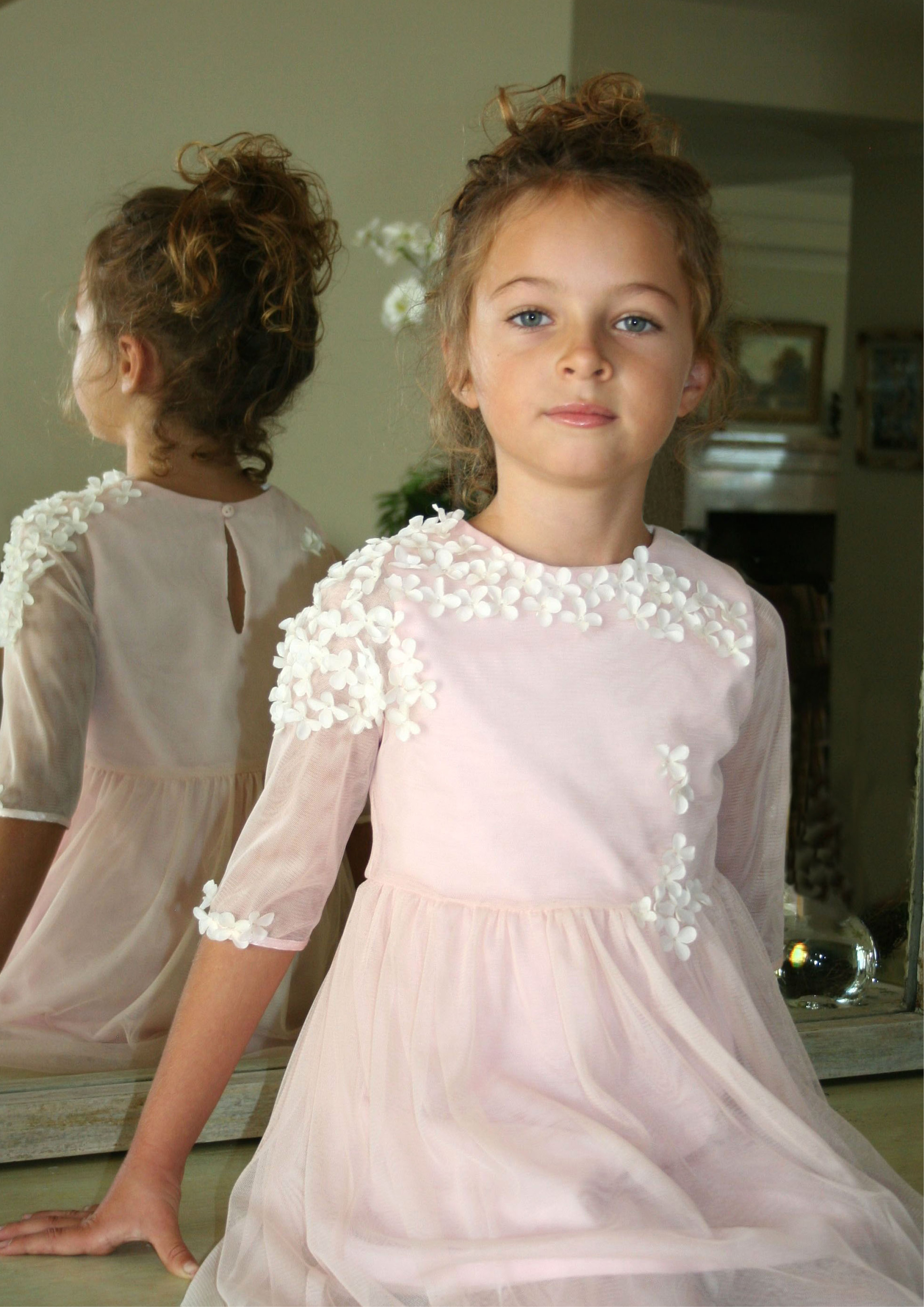 Pink Flowers Easter Dress
