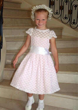 Cotillion Lace lined Pink Easter Dress