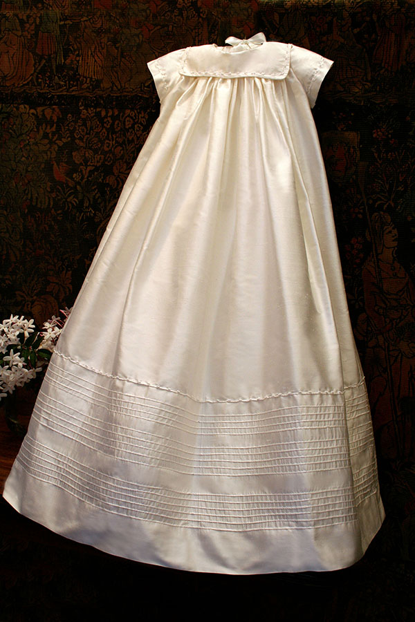 Silk Traditional Christening Gown