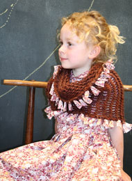 ItsATwist, scarf, knit, children