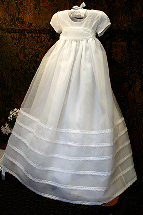 Delicate Girls Christening Gown